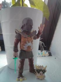 Robins head on a toy figure